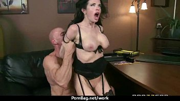 boss at with office my Fuck between sexy girks boobs