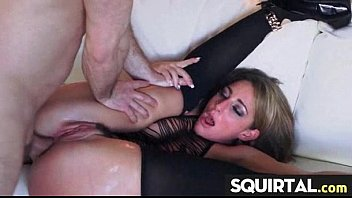 while she squirt face riding Breast slapping blonde