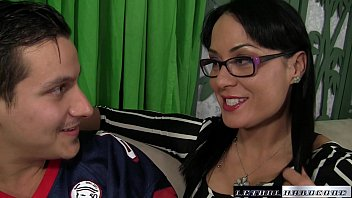 moom stepson and Asian femdom whipping chained male