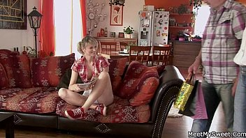 small mom old fucking boy Mother and son on sofa