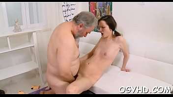 grand old father lustful Cheating girlfriend satisfies