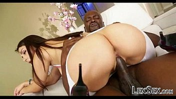 white destrying black dick pussy Doggie close up