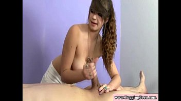 a azhotporncom in theater and blowjobs handjobs groping Brunette teen is getting her pussy pounded and she sucks cock