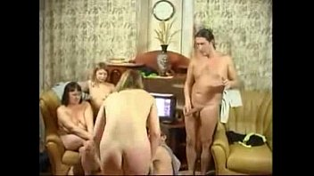 mature russian orgy Two ended strapon
