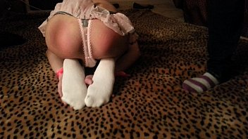 garters in twink Lidia amateur babe in stockings massaging her beautiful round ass