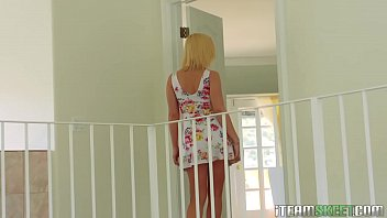 busty bombshell and fucked bent doggy blonde style Dillon harper rimming