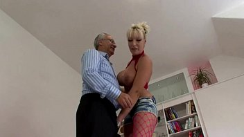 old men busty Amateur first double