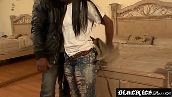 ebony teen creampie with skinny bbc Londe babe misty fingering her pussy